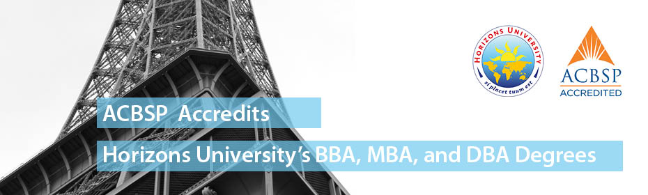 ACBSP Accredited BBA MBA DBA Horizons University